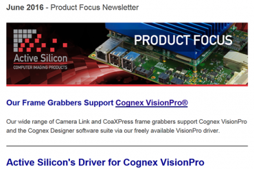 NEWSLETTER-Active-Silicon-frame-grabber-support-Cognex-Visionpro-June-2016