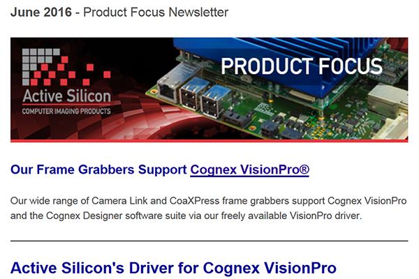 NEWSLETTER-Active-Silicon-frame-grabber-support-Cognex-Visionpro-June-2016