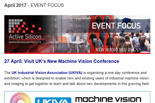 NEWSLETTER-Active-Silicon-at-UKIVA-machine-vision-conference-April-2017