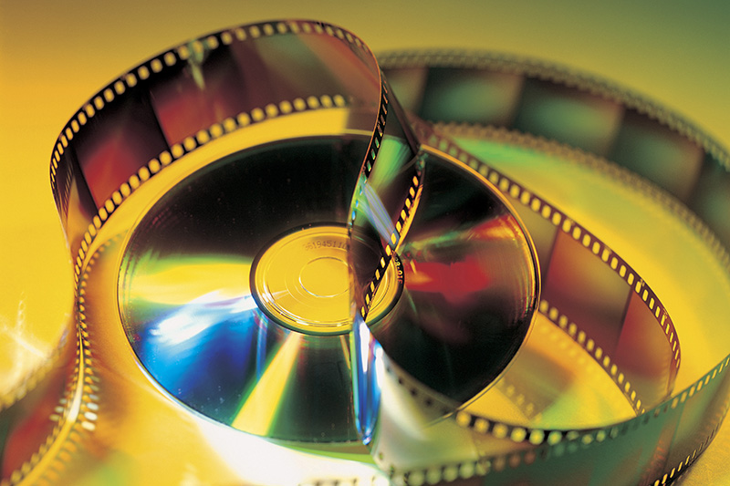 Spool of cine film ready yo be restored using an Active Silicon firebird camera link frame grabber