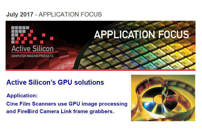 Newsletter out now - GPU processing with camera link frame grabber