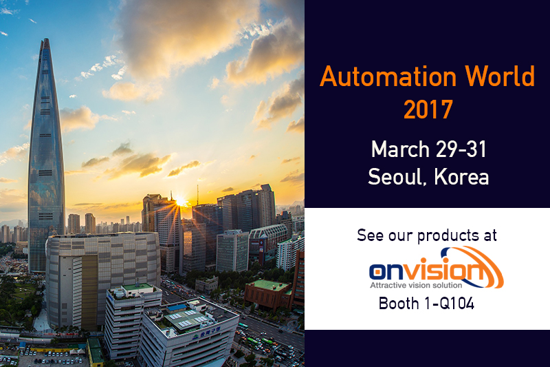 Active Silicon showcases frame grabbers at Onvision booth at Automation World Korea Seoul March-2017