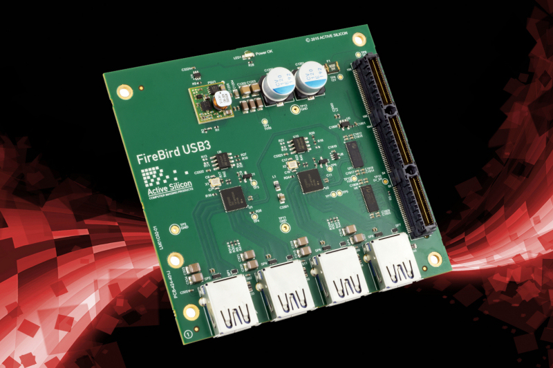 Active Silicon's new Firebird Quad USB 3.0 controller, in PCIe/104 format