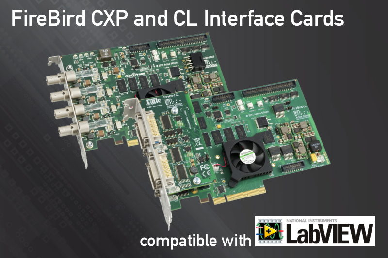 Active Silicon provides support for frame grabbers used in LabVIEW