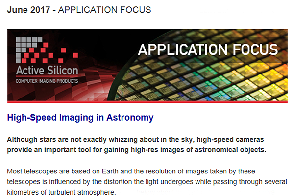 NEWSLETTER-Active-Silicon-High-speed-imaging-in-astronomy-June-2017