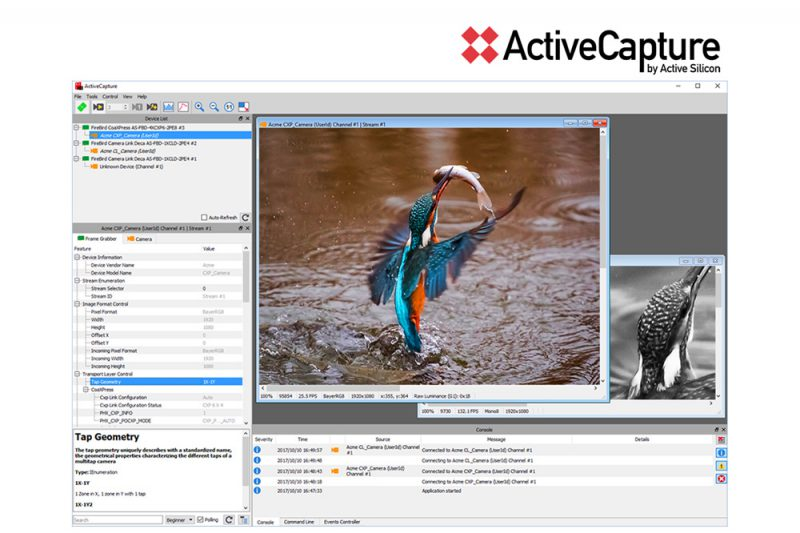 ActiveCapture the front-end software for Active Silicon frame grabbers.