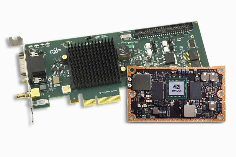 NVIDIA Jetson module and Active Silicon FireBird Single CoaXPress Low Profile frame grabber 1XCXP6-2PE4L