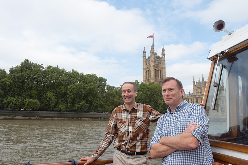 Active Silicon Chris Beynon and Colin Pearce at 30th anniversary cruise