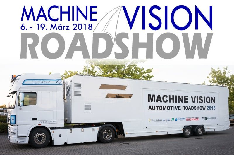 The Machine Vision Roadshow 2018 tours through Germany and parts of Switzerland.