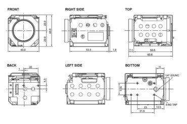 Harrier 10x AF-Zoom Camera - dimensions