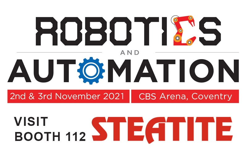 Announcement Robotics and Automation 2021 Show - visit Steatite booth 112