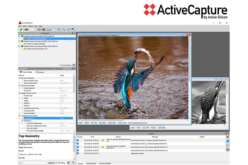 ActiveCapture - image capture, analysis and control.
