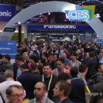 Visitors arrive at the Consumer Electronics Show