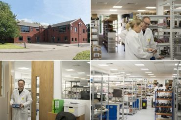 Staff, interior and exterior views of Active Silicon's new operations and production facility in Langley, UK