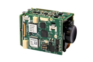 Active Silicon Harrier interface board mounted on a Tamron MP1010M-VC camera