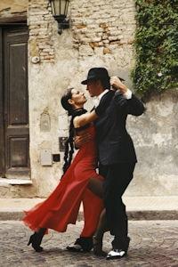 Man and woman doing a Tango dance