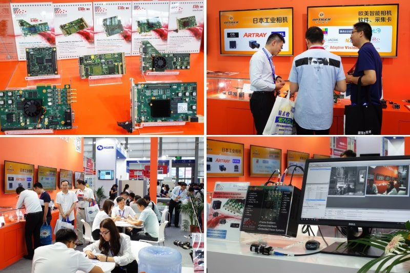 photos from CIOE showing Active Silicon frame grabbers nad Optiger's booth