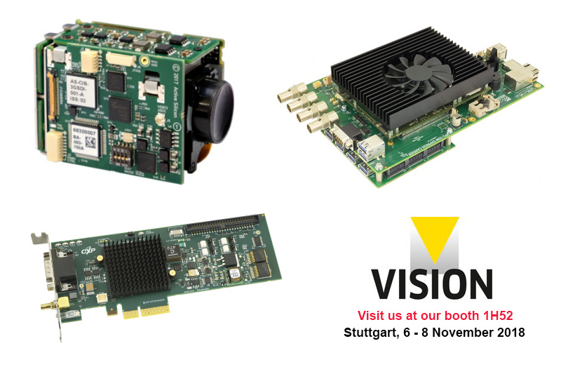 Harrier 3G-DSI Interface Board, CoaXPress frame grabber 1xCXP6-2PE4L, COM Express embedded system LM01