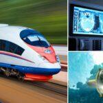 Train, medical x-ray image and ROV