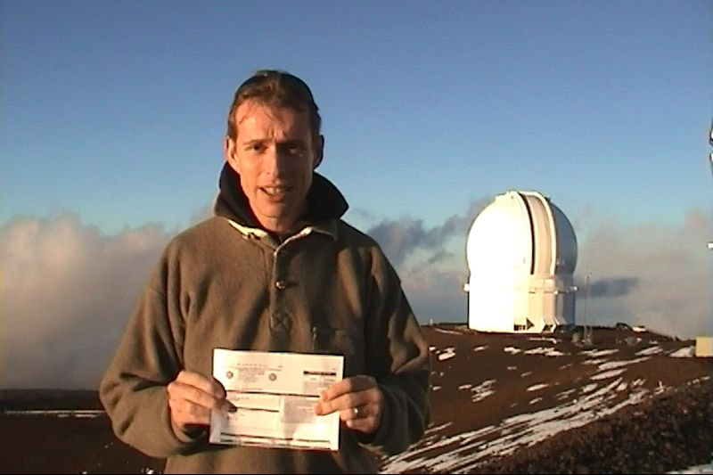 Active Silicon founder in front of the Subaru telescope in Hawaii