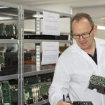 Active Silicon staff inspects frame grabber boards