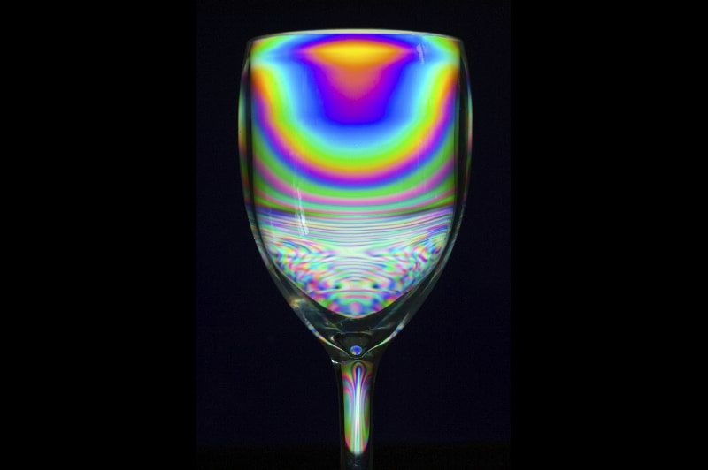 Polarized image of plastic under stress