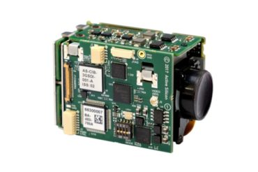 Harrier 3G-SDI camera interface board mounted to a Tamron MP1110M af-zoom camera