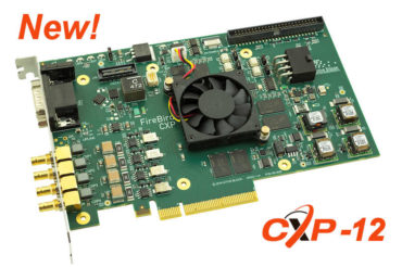 New CoaXPress frame grabbers from Active Silicon, image shows 4xCXP-123PE8
