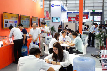 Optiger's booth at Chinese trade show