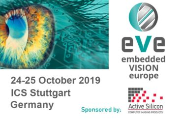 Embedded Vision Europe show logo and Active Silicon logo