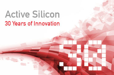 graphic and text representing Active Silicon's 30 year anniversary