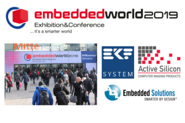 Embedded World conference and exhibition with Active Silicon, EKF and ADL company logos
