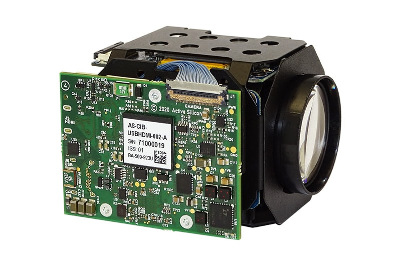 Product photo of the Harrier 10x AF-zoom camera with USB and HDMI output