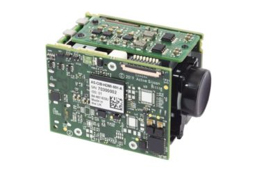 Harrier HDMI Camera Interface Board mounted to a Tamron MP1110M-VC camera