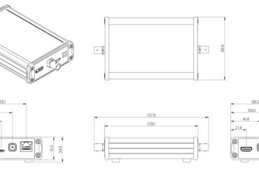 Dimensions of the Harrier SDI Adapter - Enclosed Version