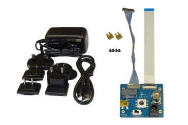 Content of the evaluation kit for the Harrier 18x AF-Zoom HDMI 4K Camera