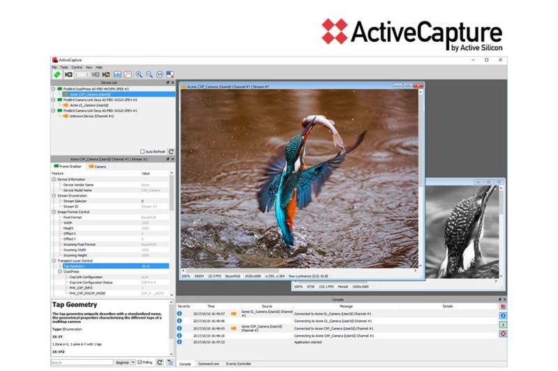ActiveCapture software for FireBird frame grabbersA