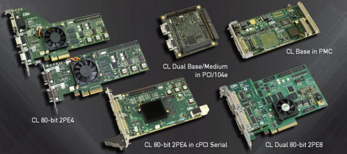 Active-Silicon-Camera-Link-frame-grabber-products PCI 104 2PE4 cPCI 2PE8