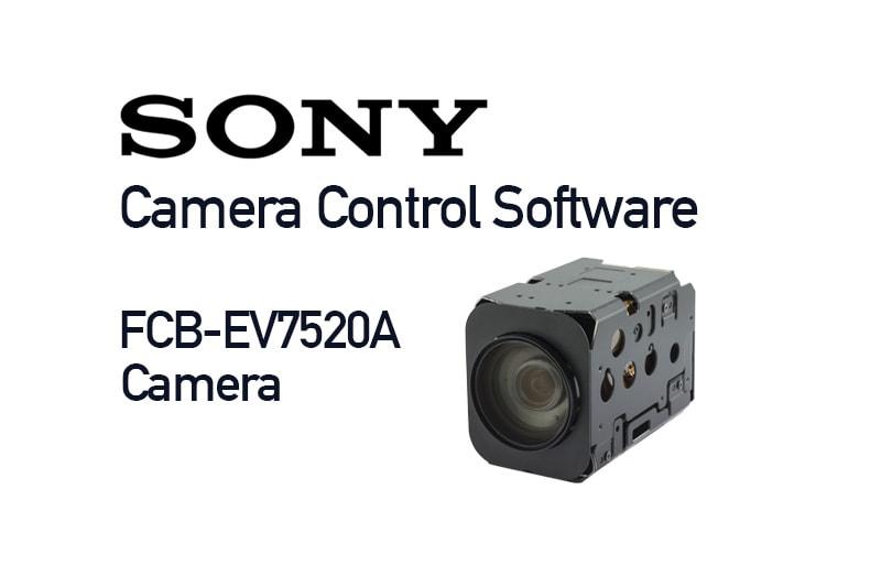product image - Sony FCB-EV7520A camera control software